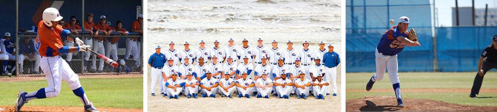 Whitecaps Baseball at Galveston College on the beach