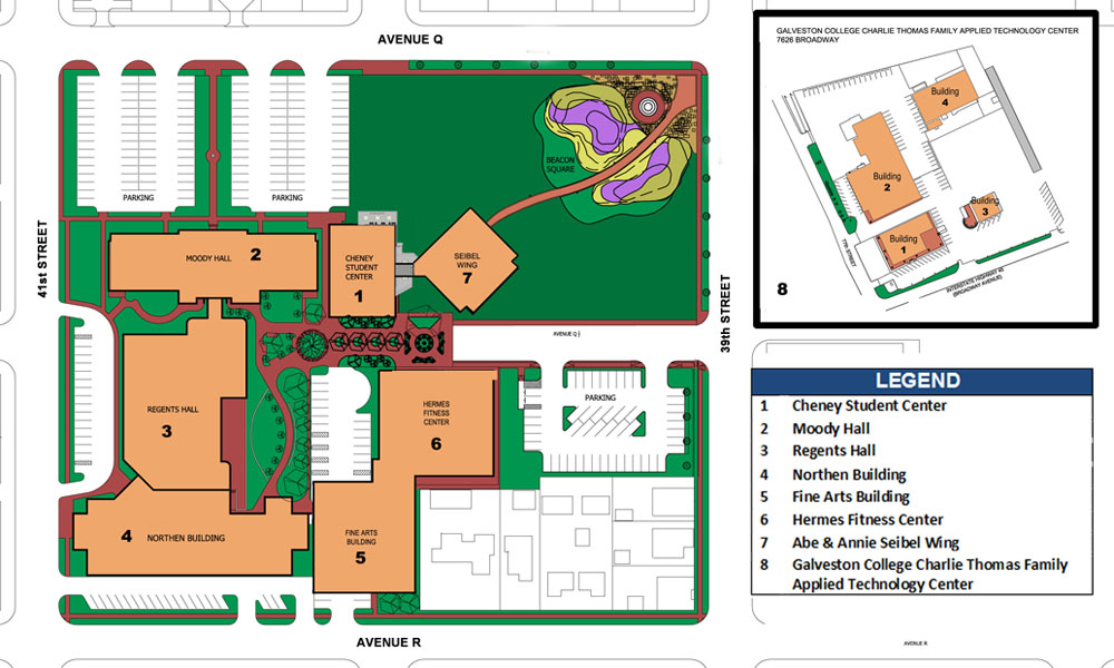 Langston University Campus Map.Campus Maps Galveston College