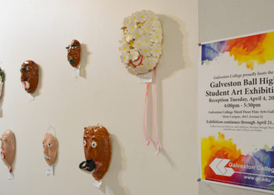 2017 BHS Student Art Show_Artwork at Galveston College Art Gallery