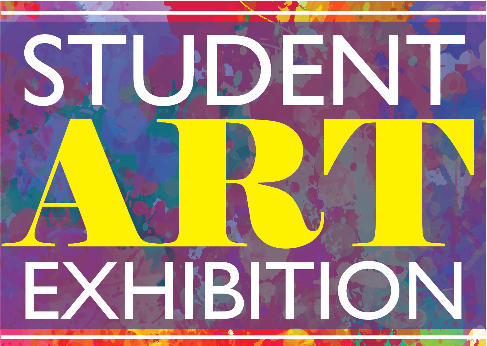 2017 Student Art Exhibition Poster