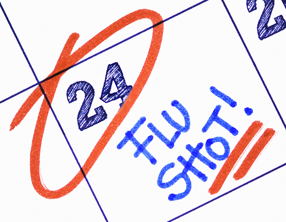 Flu shot reminder