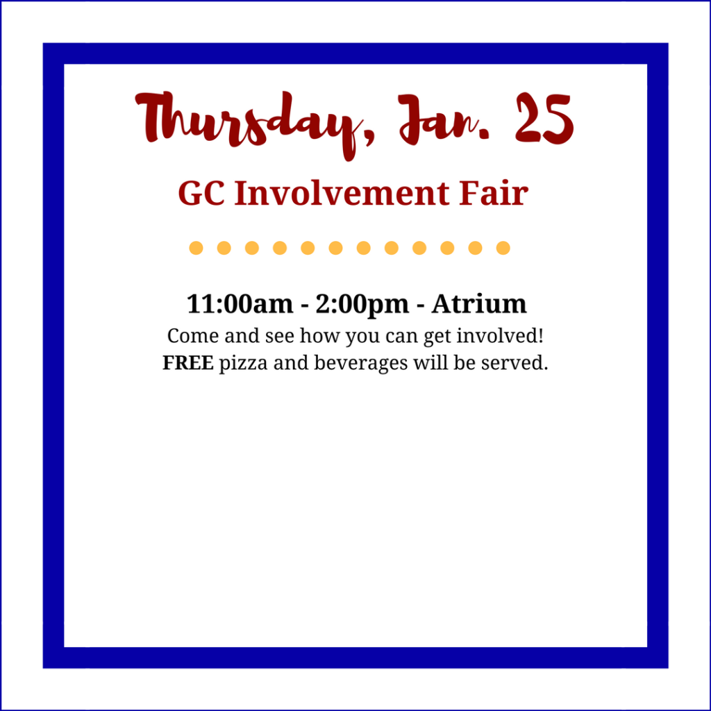 Thursday GC Involvement Fair