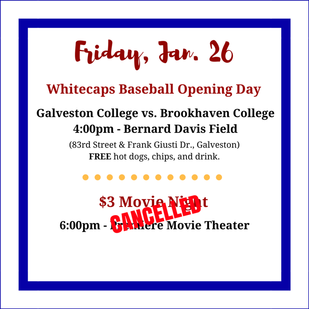 Updated Friday Movie Night and Baseball Game
