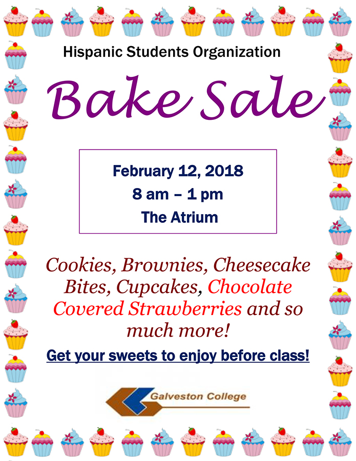 Hispanic Students Organization Bake Sale