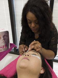 Ebony Spiller, Cosmetology student at Galveston College