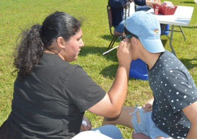 Face painting at the 2018 spring fling at Galveston College Main Campus