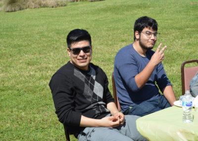 Student club members having fun at the 2018 spring at Galveston College Main Campus fling