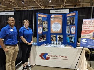 Oceans of opportunity Job Fair Galveston College booth