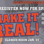 Spring 2019 registration set at Galveston College