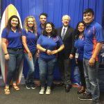 SGA members with President of Galveston College