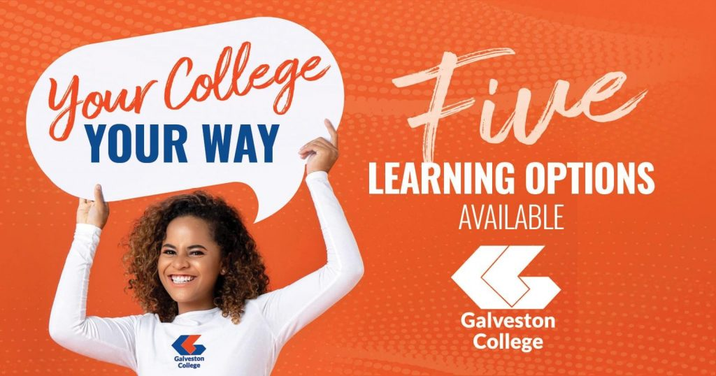 Five learning options at Galveston College