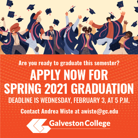 Apply for Spring 2021 Graduation at Galveston College