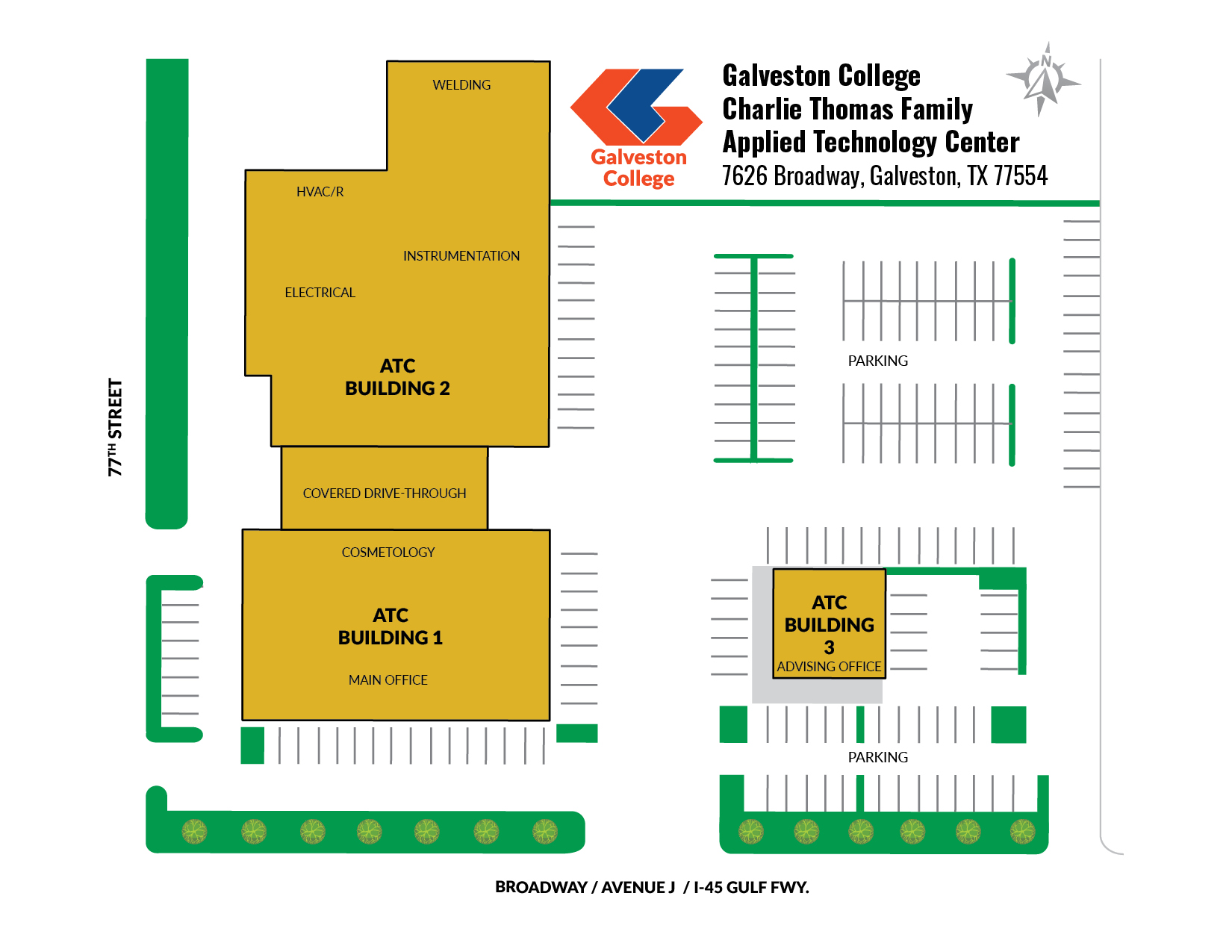Galveston College ATC Campus Map
