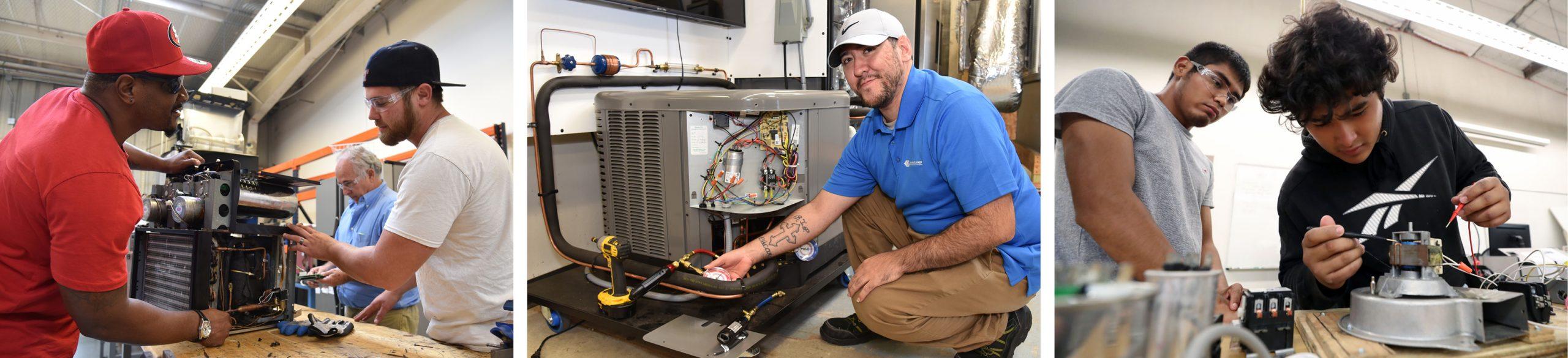 Galveston College HVAC Program Photos
